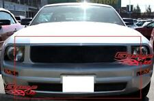 Custom Fits 05-09 Ford Mustang V6 Black Mesh Grill Combo