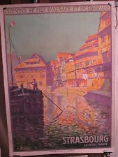 AFFICHE  STRASBOURG PETITE FRANCE CANAL COULEURS  LUCIEN BLUMER
