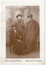 WW1  ROYAL ENGINEERS Soldier and Family Glasgow  Photo  Postcard