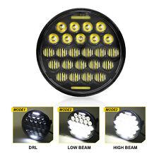 """5.75"""" 5-3/4'' Round 5D CREE Black LED Headlight High Low Beam DRL for Motorcycle"""