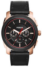 Fossil Men's FS5120 Machine Chronograph Black Leather Watch