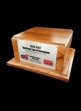 "Trophy Award Base w/ Custom Silver Plate 10""x 10""x 4.75"" - Wagler Awards"