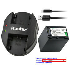 Kastar Battery Dual Charger for Sony NP-FV100 & Sony DCR-SX73 DCR-SX83 DCR-SX85