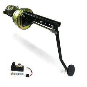 Universal adj FW 7 Dual Brake Pedal kit Adj Disk/Drum3in Blk Pad master street