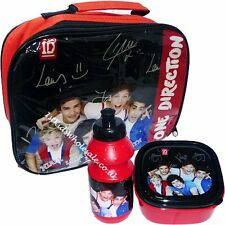 100% Official One direction 3 pieces Lunch bag sandwich box and bottle Girls Kid