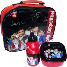 ONE Direction 3pcs borsa pranzo panino scatola e bottiglia