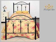 letto in ferro battuto singolo freccia scuro disponibile colore avorio