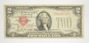 1928-D Red Seal $2 United States Note - Legal Tender - Historic *182