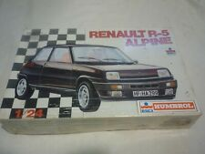 A vintage ESCI Un-opened / Un-Made plastic kit of a  Renault R-5 Alpine. boxed.