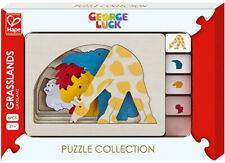 Hape George Luck Grasslands Wood Puzzle
