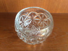 Vintage Clear Pressed Glass Pot, Candy Dish or Bowl, 1930s-1960s?