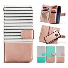 Fashion Color Handy Wallet Leather Flip Case Cover For Samsung Galaxy Phone