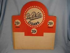 Uncle Willie Registered Cigars Cardboard Advertisement Ad REd & White Corona (O)