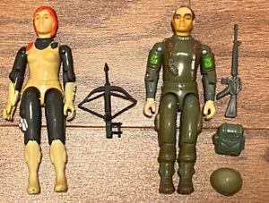 Vintage 1983 G.I. GI Joe Cobra Lot Scarlett Grunt Complete Swivel Arm SA