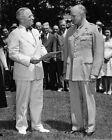33rd President HARRY S TRUMAN & DWIGHT EISENHOWER Glossy 8x10 Photo Print Poster