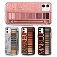 Cute Woman Makeup Eyeshadow Palette Case For iPhone 6s 7 8 11 XS Fashion girls