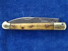 COUTEAU ANCIEN / Old knife - ST MARTIN BARNERIAS TETE DE COCHON - RARE !