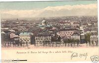 Italia - Panorama di Torino Dal lungo Po e Veduta Delle Alpi (G9243)