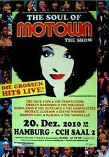 MOTOWN THE SHOW - 2010 - Plakat - Jackson - Temptations - Gaye - Wonder - HH