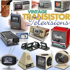 Vintage Transistor Televisions book Sony Philco Safari Sinclair Seiko TV Watch..