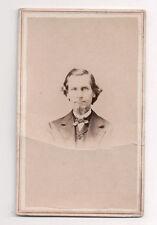 Vintage CDV Unknown Man with a  Goatee Civil War era