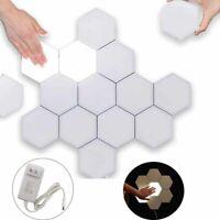LED Night Light Wall Lamp DIY Quantum Hexagonal Touch Sensitive Modular Light L