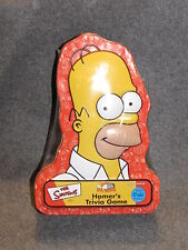 The Simpsons Homer J Simpson Trivia Game 2001 Sealed