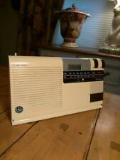 Vintage GE General Electric/Battery Clock Radio 7-4208A AM/FM Art Deco EXC Cond