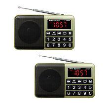 GOLDEN 2pcs DIGITALE FM/AM/SW Radio MP3 Player Multimediale Altoparlante AUX input come