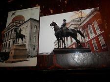 BOSTON MA - CIVIL WAR - HOOKER STATUE - OLD Postcard plus MODERN PHOTO