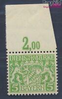 Baviera d17w examinado, papel de paz y engomado de paz nuevo 1916 Emblem(8357921