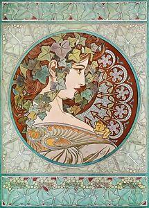Alphonse Mucha Art Nouveau Vintage Poster Picture Print Wall Art