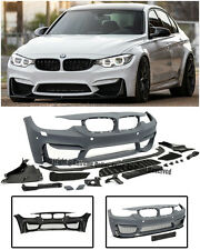 M3 Style Front Bumper Cover Fog Deleted PDC W/ Aero Lip For 12-Up F30 3-Series