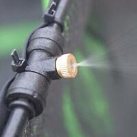 Verstellbare Messing Spray Misting Düse Garten Sprinkler Bewässerung Fittin WJ