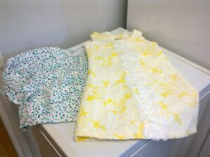 BONNIE JEAN Yellow Jacquard White Flowers dress + top - size 3 - 4 years old