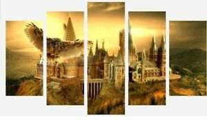 Harry Potter - Hogwarts School Hedwig 5 Split Panel Canvas Pictures