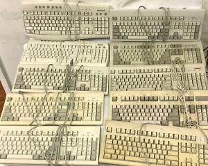 Lot of 10 Vintage Mechanical Keyboards - IBM WYSE Dell Microsoft Apple Compaq