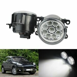 LED Front Bumper Driving Fog Light White Fit Vauxhall Opel Ford Renault Peugeot