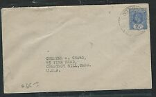 GILBERT AND ELLICE ISLANDS (P2805B) KGV 2 1/2D SINGLE FRANK TO USA