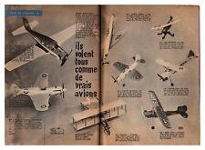 1961 : Document (Ref RA 023) : AVION : MODELISME  THIMBLE DROME   (2 pages)