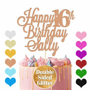 Personalised Happy Birthday Cake Topper Any Age Any Name Party Cake Decoration