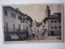 Cartoline Locale Piemonte Masserano Biella 1943 Via Roma