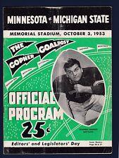 Minnesota Golden Gophers vs Michigan St. 1953 college football program
