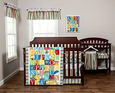Trend Lab Dr. Seuss Bedding Set Crib Nursery Baby Alphabet 3 Piece Quilt New