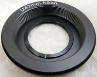 M42 Pentax screw mount Lens to Nikon F Ai-s Camera adapter Ring w Glass Infinity