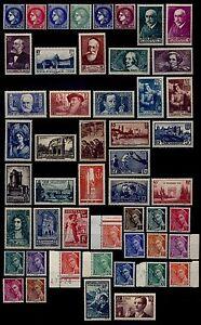 ANNÉE 1938 sauf Ader, Neufs * = Cote 265 € / Lot Timbres France