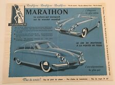 Marathon French Automobile 1-page Car Brochure Card - 356 1953 1954 1955
