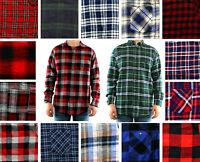 St. John's Bay Flannel Shirt Men's Plaid Long Sleeve Button Down Casual Top