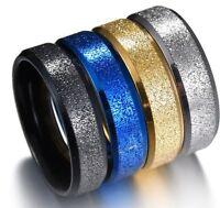 24 Mix Band Ring Partnerringe Fingerring Edelstahlringe Silber Blau Gold Schwarz