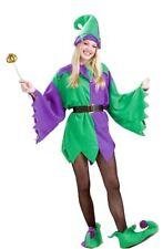 Mardi Gras Jester Adult Costume Elf Tunic Unisex Men Women Purple, Standard